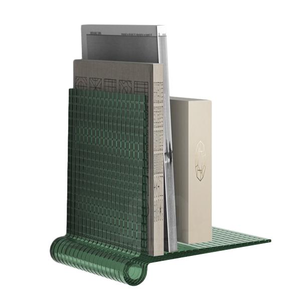 Mensole Design Kartell.Kartell Set Of 2 Shelves Kite Shelves Green Technopolymer Thermoplastic Transparent