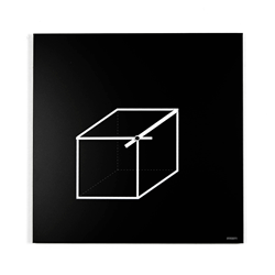 dESIGNoBJECT wall clock CUBE CLOCK