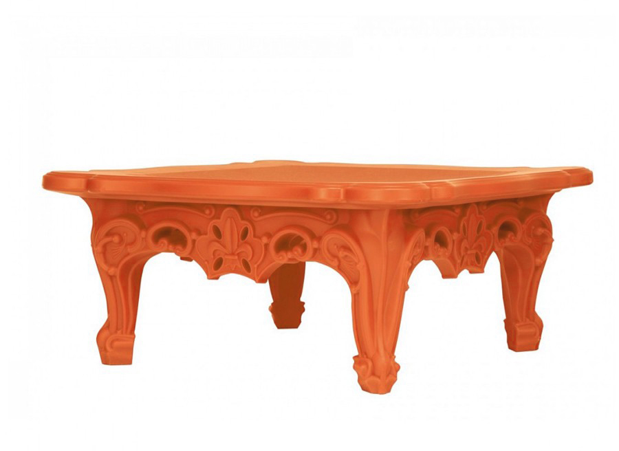 Slide table basse duke of love orange poly thyl ne for Table basse orange