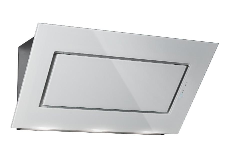 falmec hotte murale quasar blanc 120 cm acier inox verre. Black Bedroom Furniture Sets. Home Design Ideas