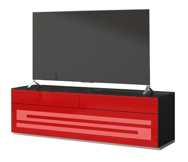 munari meuble tv 60 rainbow ra 151 ra151nero noir avec. Black Bedroom Furniture Sets. Home Design Ideas