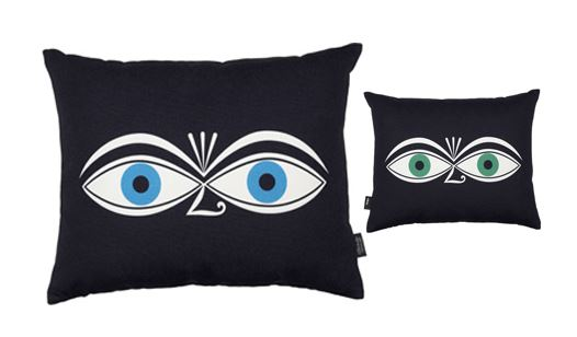 vitra coussin graphic print pillows eyes 100 coton imprim et plume d 39 oie. Black Bedroom Furniture Sets. Home Design Ideas