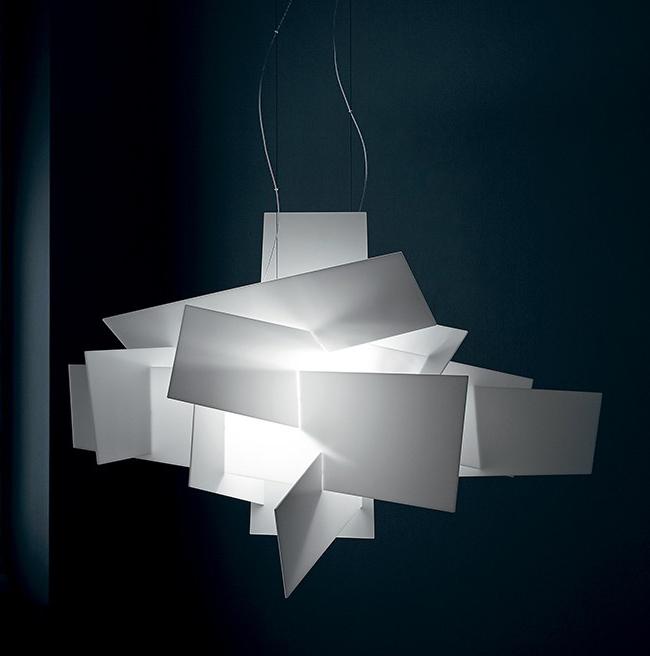 foscarini lampe de suspension big bang led blanc m thacrylate et m tal laqu. Black Bedroom Furniture Sets. Home Design Ideas