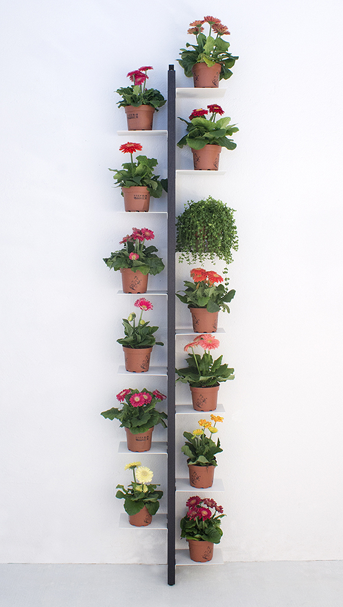 Le Zie Di Milano Floor Plant Holder Fixed To Wall Zia Flora H 202 Cm Black Solid Beech And Steel Myareadesign Com