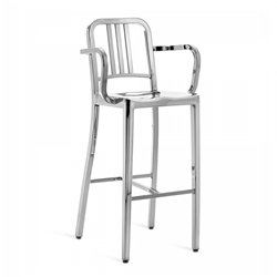 EMECO NAVY BARSTOOL WITH ARMS tabouret avec accoudoirs