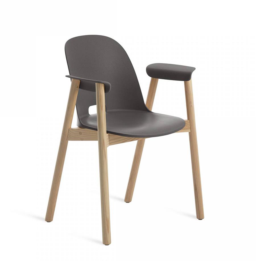EMECO ALFI ARMCHAIR HIGH BACK Chaise Avec Accoudoirs Et Le Dossier Haut