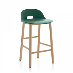 EMECO ALFI COUNTER STOOL LOW BACK tabouret avec le dossier bas