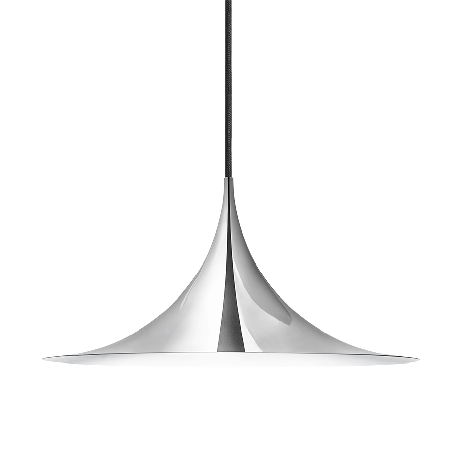 gubi lampe suspension semi 47 cm chrome m tal. Black Bedroom Furniture Sets. Home Design Ideas
