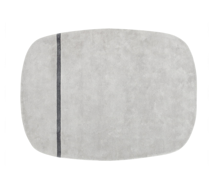 normann copenhagen tapis oona 175x240 cm gris 100. Black Bedroom Furniture Sets. Home Design Ideas