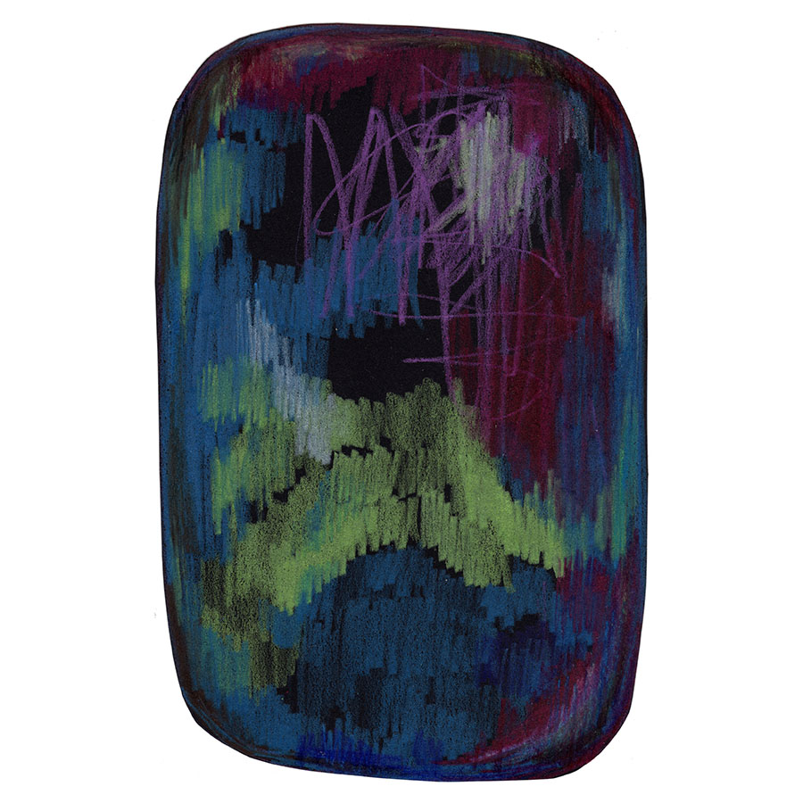 Moooi Carpets Rug Scribble Signature Collection Black Green Blue