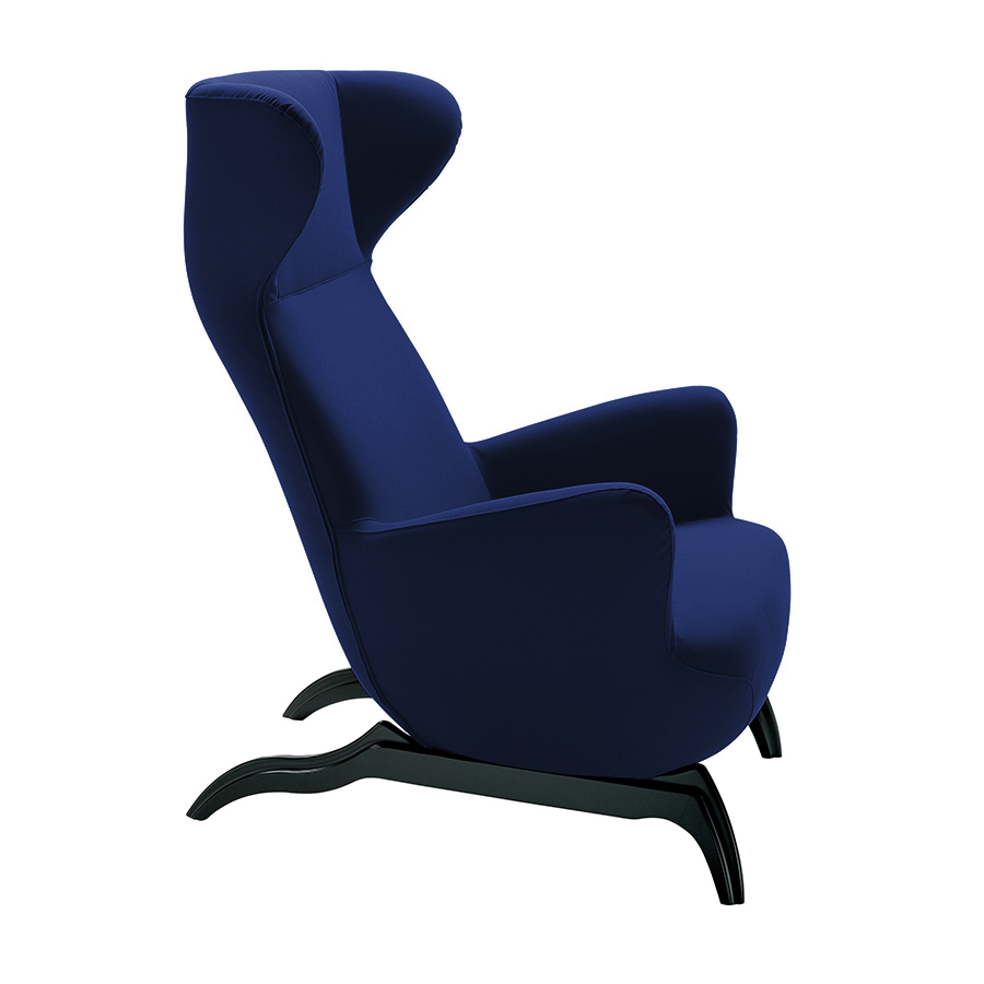 zanotta fauteuil ardea bleu nuit tissu teatro. Black Bedroom Furniture Sets. Home Design Ideas