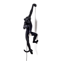 SELETTI lampe murale MONKEY LAMP à LED BLACK EDITION