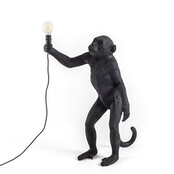 SELETTI lampadaire MONKEY LAMP à LED BLACK EDITION