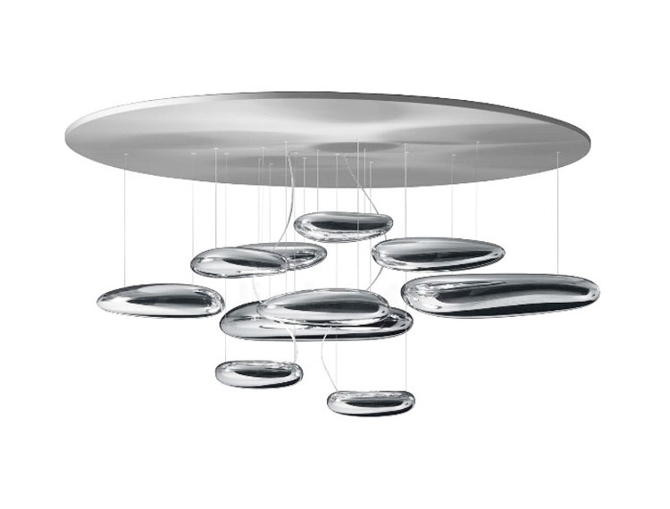 artemide lampe au plafond mercury ceiling led aluminium abs acier. Black Bedroom Furniture Sets. Home Design Ideas