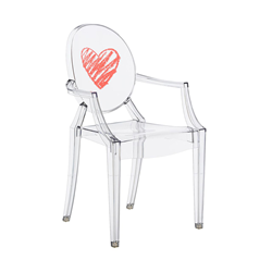 KARTELL KIDS chair for children LOU LOU GHOST