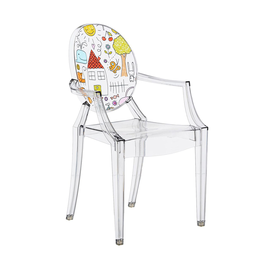 KARTELL KIDS chair for children LOU LOU GHOST (Tranparent / Pattern ...