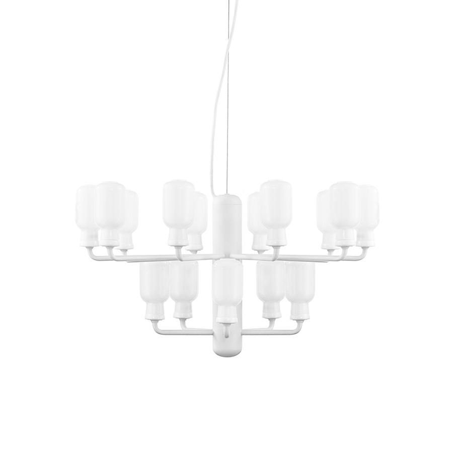 Normann Copenhagen Par Poudre Lampe Suspension Blanc Amp À Chandelierpetite VerreMarbreAcier Verni 8Nmn0w