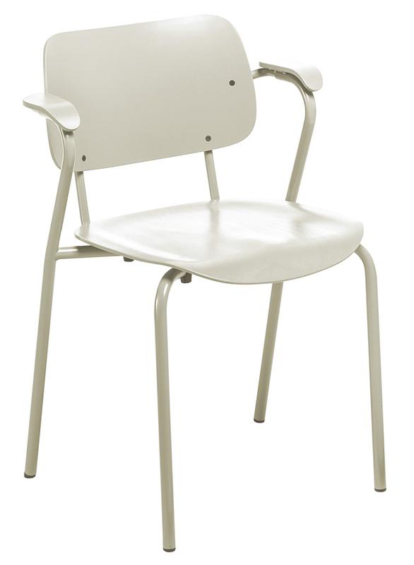 Artek Chaise Lukki Chair Laccato Bianco Pietra Acciaio Faggio Betulla