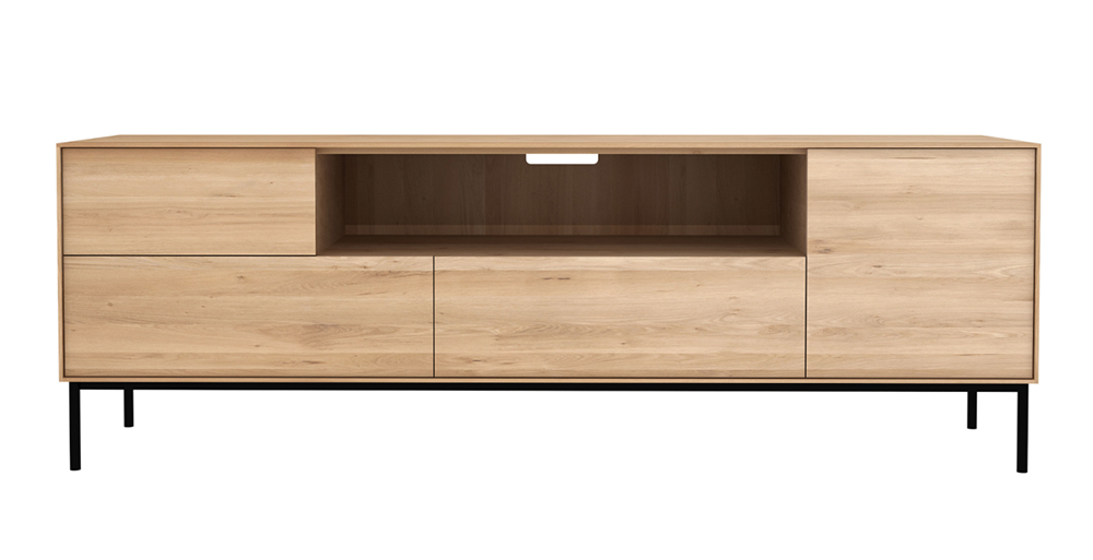 ethnicraft meuble tv whitebird naturel ch ne. Black Bedroom Furniture Sets. Home Design Ideas