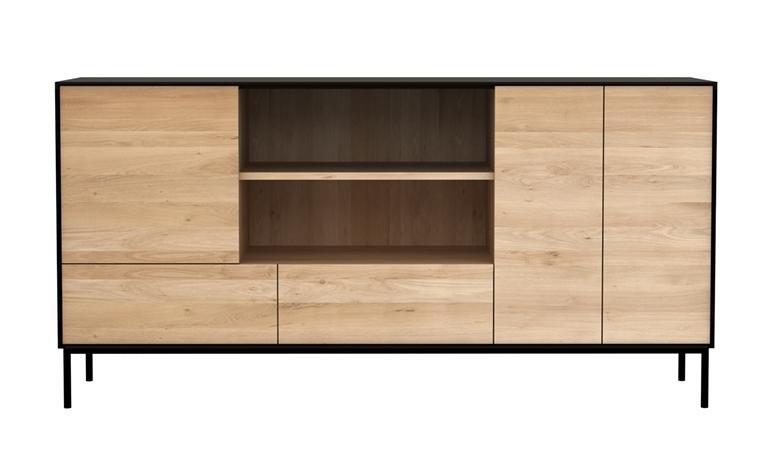 ethnicraft meuble buffet blackbird avec 3 portes et 2 tiroirs naturel ch ne. Black Bedroom Furniture Sets. Home Design Ideas