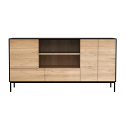 ETHNICRAFT furniture sideboard BLACKBIRD with 3 doors and 2 drawers