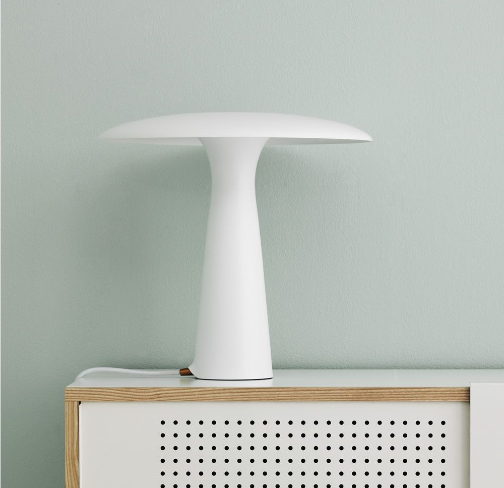 normann copenhagen lampe de table shelter limestone acier verni. Black Bedroom Furniture Sets. Home Design Ideas