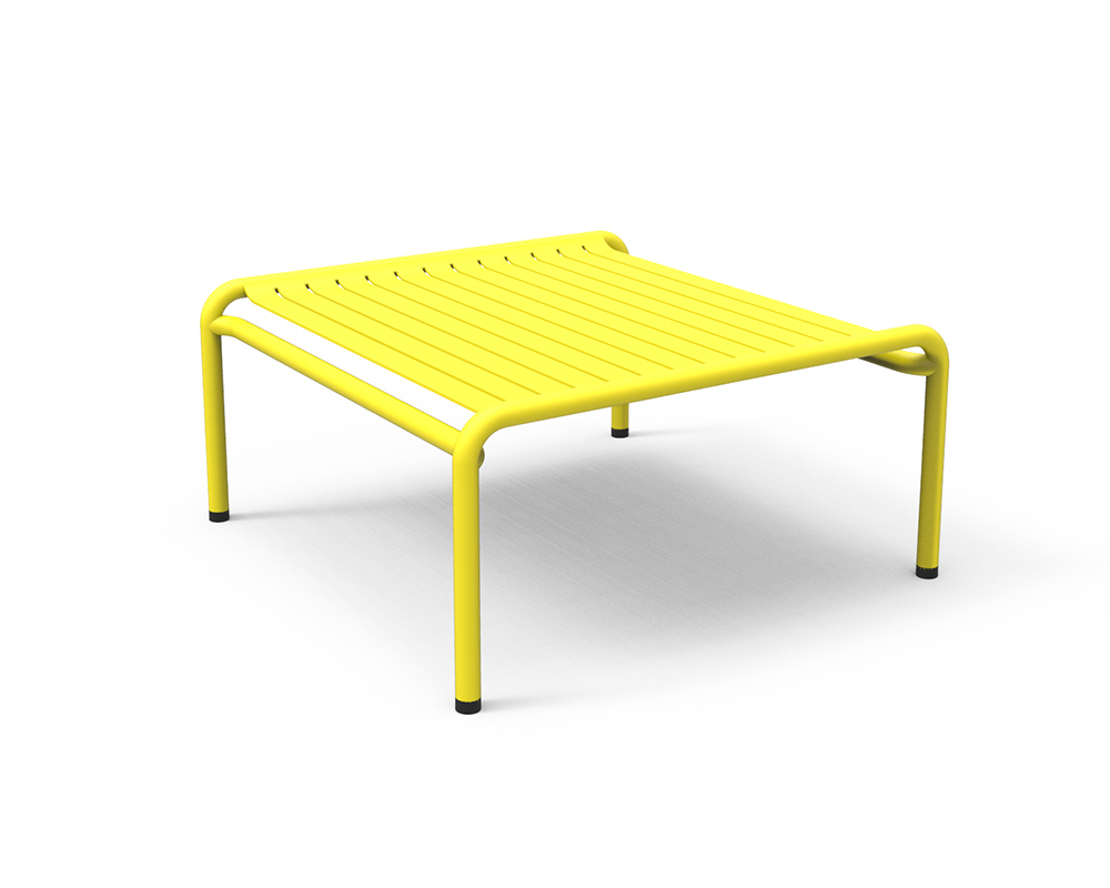 Petite friture table basse pour l 39 ext rieur week end for Table exterieur jaune