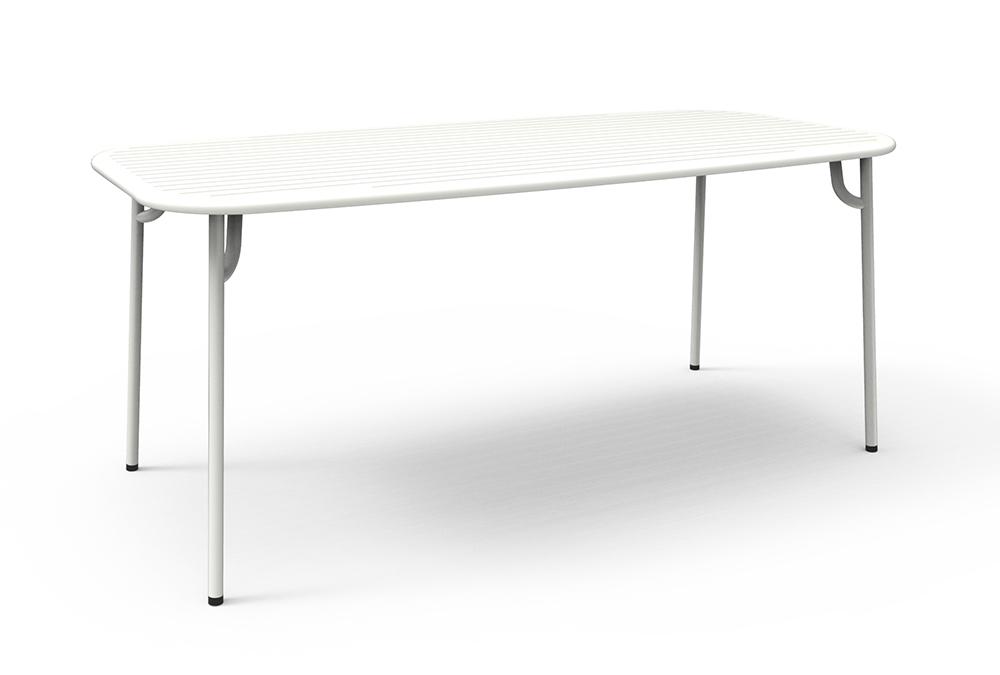 Petite friture table rectangulaire pour l 39 ext rieur week end 180x85 cm b - Petite table exterieur ...