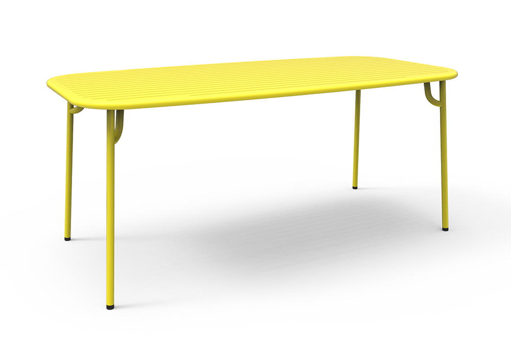 Petite friture table rectangulaire pour l 39 ext rieur week for Table exterieur jaune