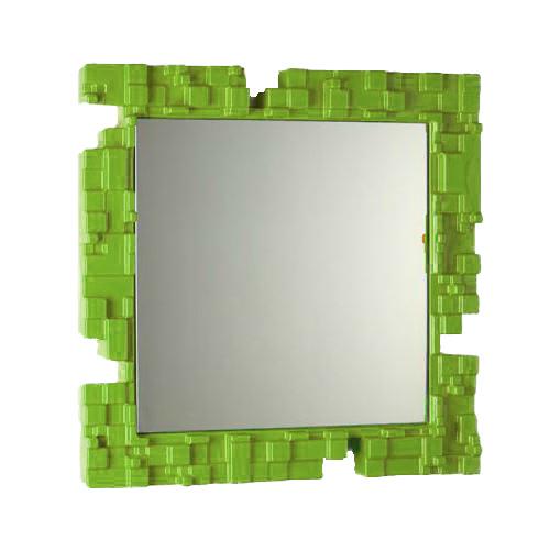 slide miroir pixel citron vert poly thyl ne. Black Bedroom Furniture Sets. Home Design Ideas