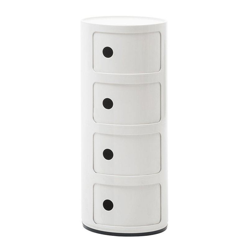 kartell table de chevet componibili quatre l ments blanc abs. Black Bedroom Furniture Sets. Home Design Ideas