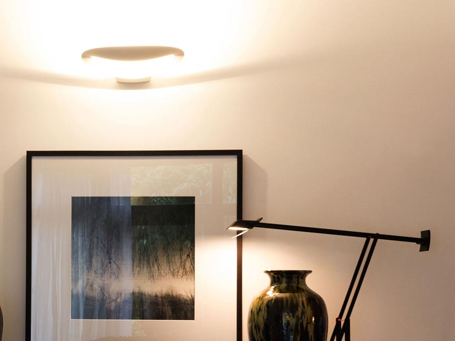 ARTEMIDE lampe murale applique MESMERI LED (2700K, blanc Aluminium)