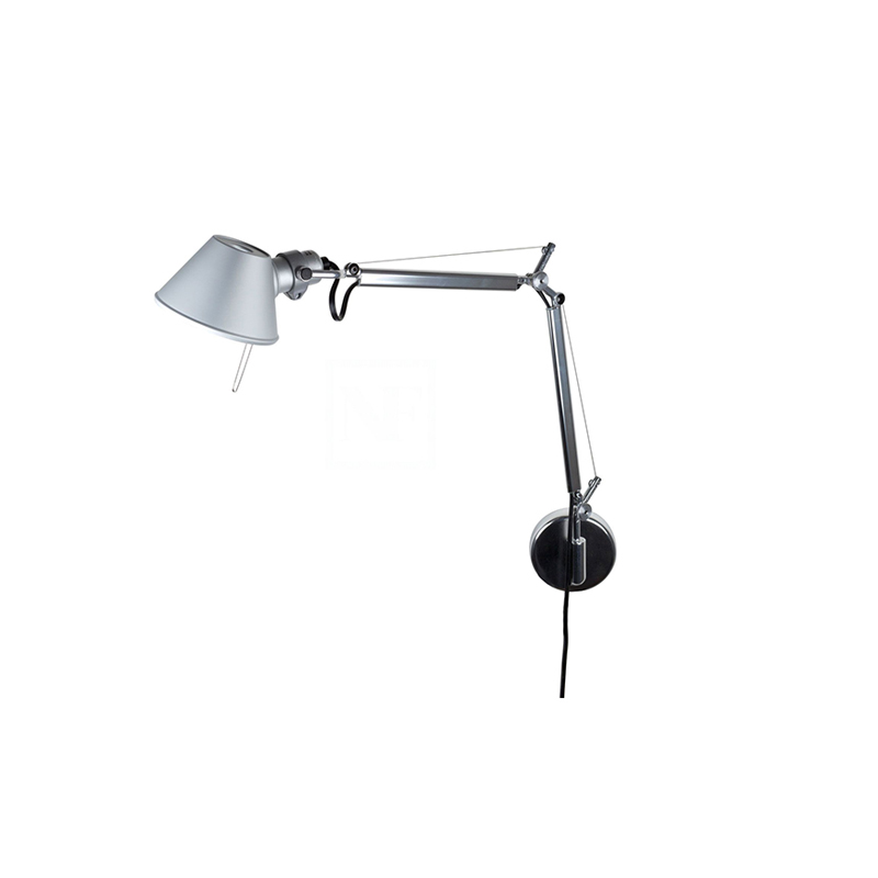 artemide lampe murale tolomeo micro led alluminio led 3000k aluminium. Black Bedroom Furniture Sets. Home Design Ideas
