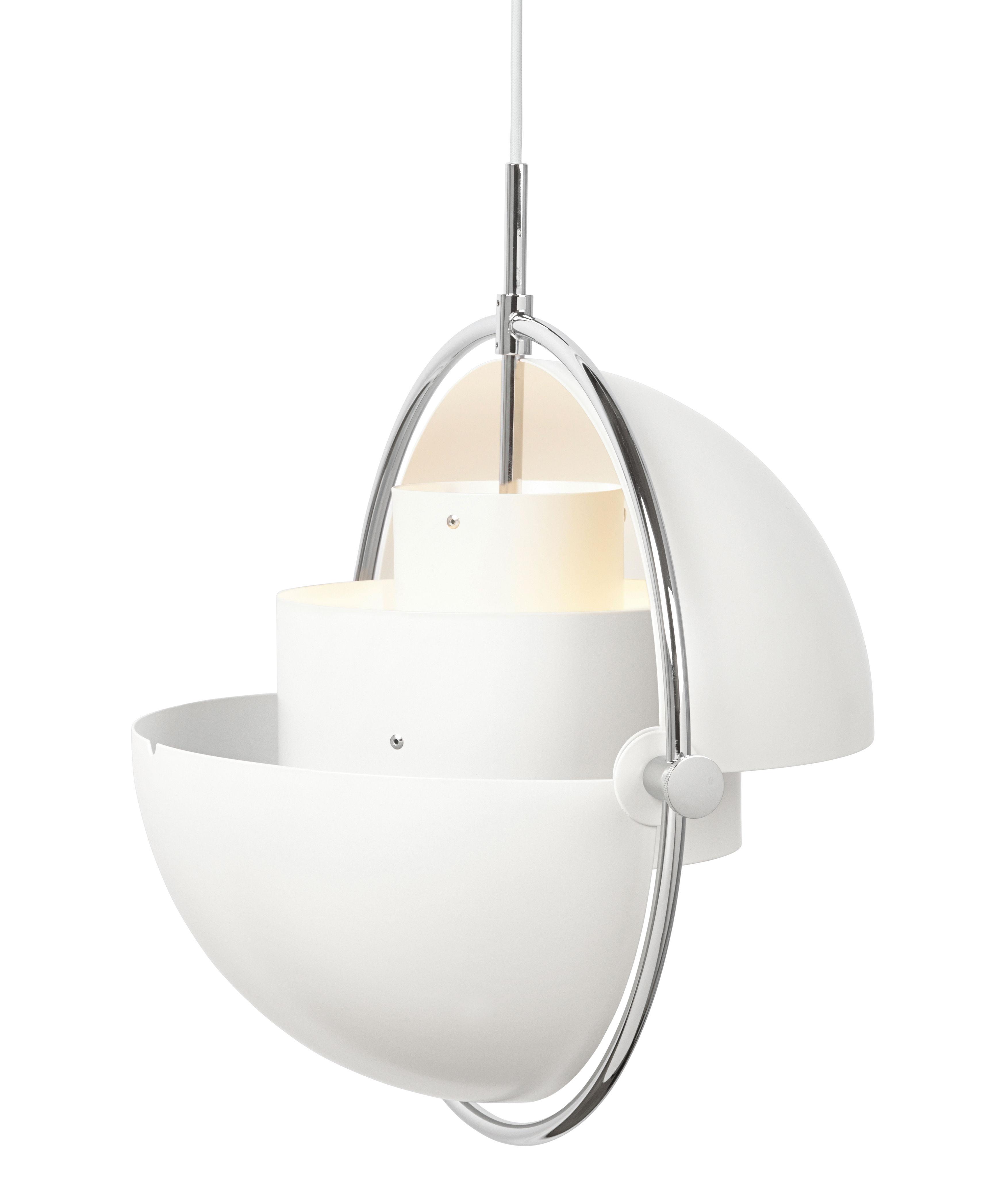 gubi lampe suspension multi lite blanc et chrom m tal. Black Bedroom Furniture Sets. Home Design Ideas