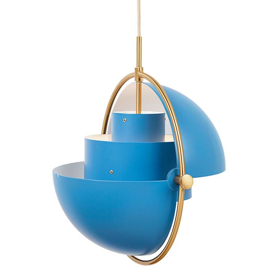 gubi lampe suspension multi lite bleu et laiton m tal. Black Bedroom Furniture Sets. Home Design Ideas