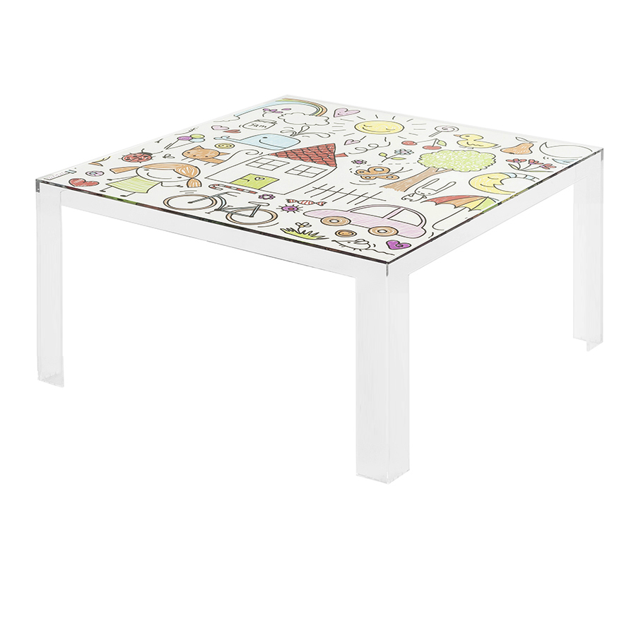 kartell kids table basse invisible table transparent avec dessins pmma transparent. Black Bedroom Furniture Sets. Home Design Ideas