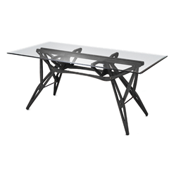 ZANOTTA table with glass top REALE