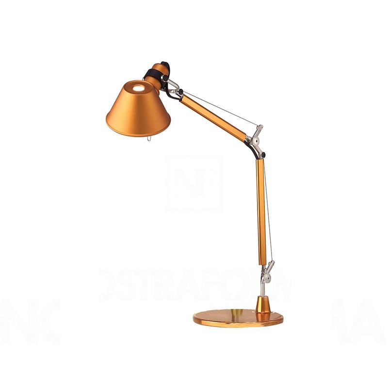 Artemide Tolomeo Lamp Orange Table Microanodized AluminiumSteel SUzMVp