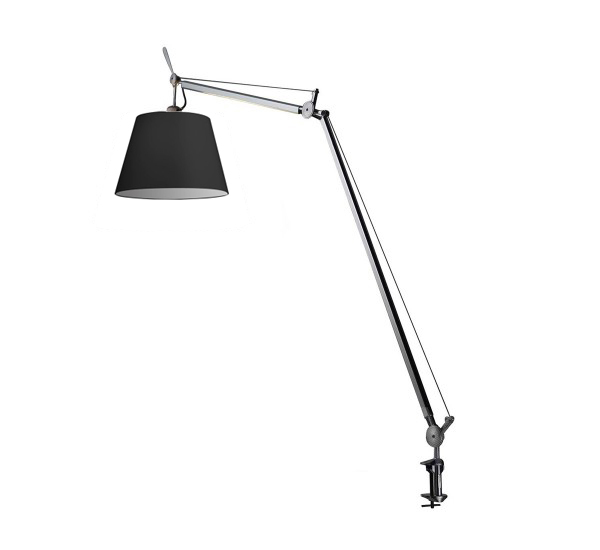 artemide lampe de table tolomeo mega avec crampon 32 cm avec variateur diffusore in tessuto. Black Bedroom Furniture Sets. Home Design Ideas