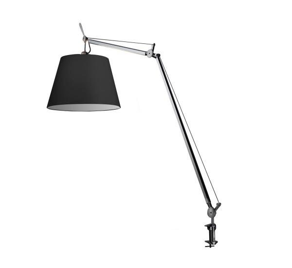 artemide lampe de table tolomeo mega avec crampon 42 cm avec variateur diffusore in tessuto. Black Bedroom Furniture Sets. Home Design Ideas