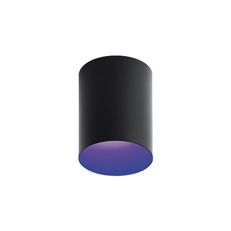 artemide lampe de plafond tagora ceiling 270 avec le faisceau lumineux 16 noir bleu 3000k. Black Bedroom Furniture Sets. Home Design Ideas