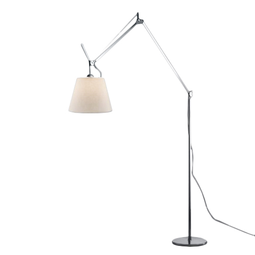 ARTEMIDE floor lamp TOLOMEO MEGA Ø 32 cm (ON OFF, parchment shade and aluminium structure Aluminium, steel)