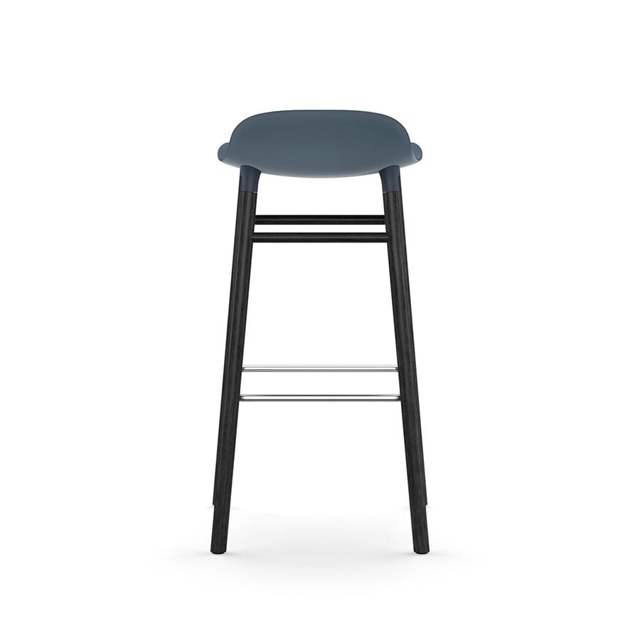 Pleasant Normann Copenhagen Stool Form Barstool H 75 Cm With Black Wood Base Blue Polipropilene E Legno Nero Ncnpc Chair Design For Home Ncnpcorg