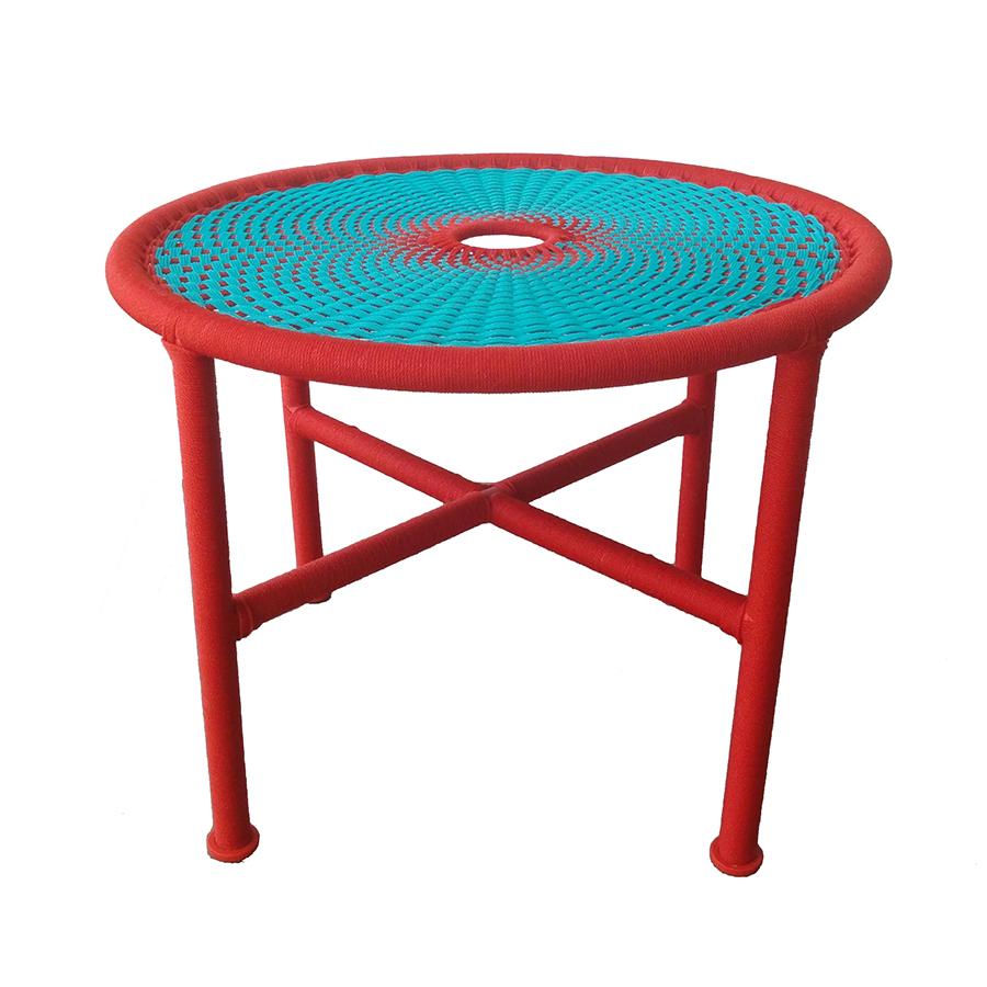 Moroso Table Basse Banjooli M 39 Afrique H 38 Cm Eau Rouge Poly Thyl Ne Et Acier Verni