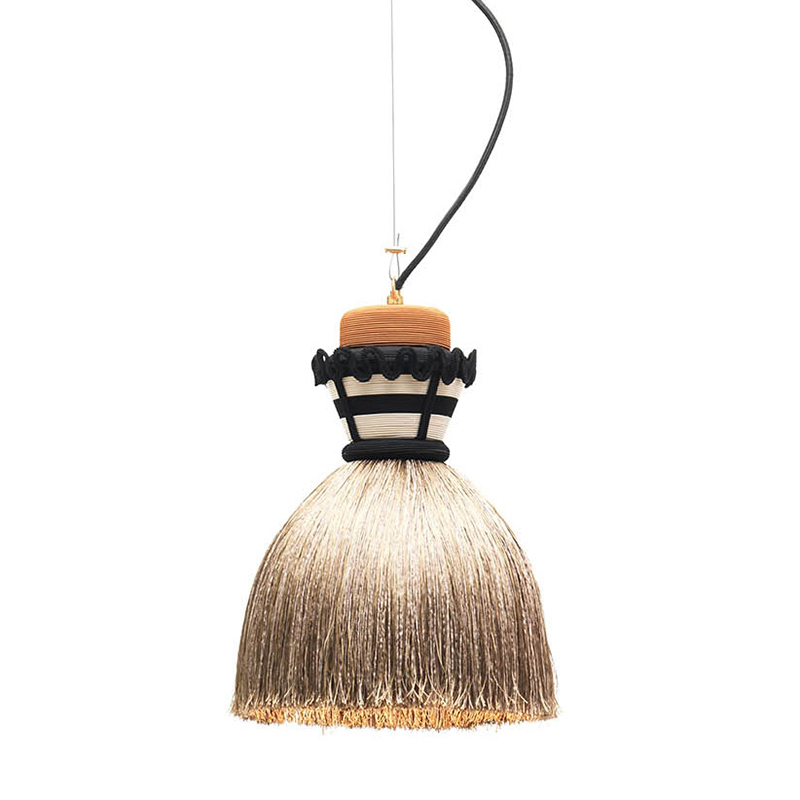 MOGG lampe à suspension MADAMA (Ø 24xh37 cm, beige Métal et tissu)