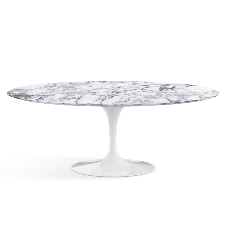 Knoll table ovale tulip collection eero saarinen 198x121cm - Saarinen table ovale ...
