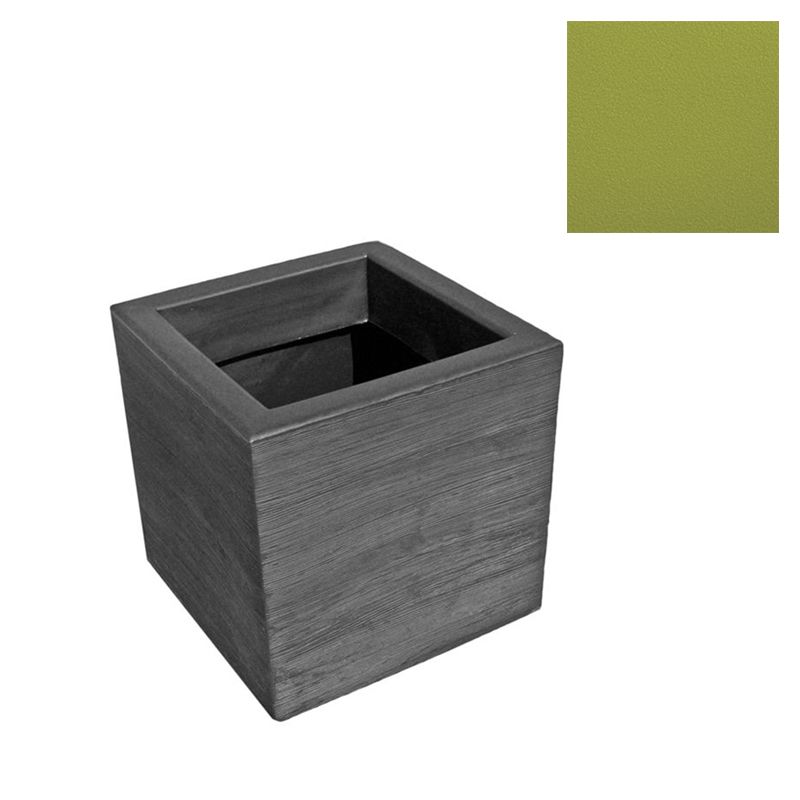 SLIDE Vase QUADRA 45 Cm Citron Vert Poly Thyl Ne