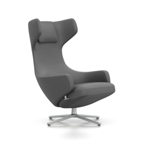 VITRA fauteuil pivotant GRAND REPOS (Classic grey H assise 41 cm Tissu Cosy)