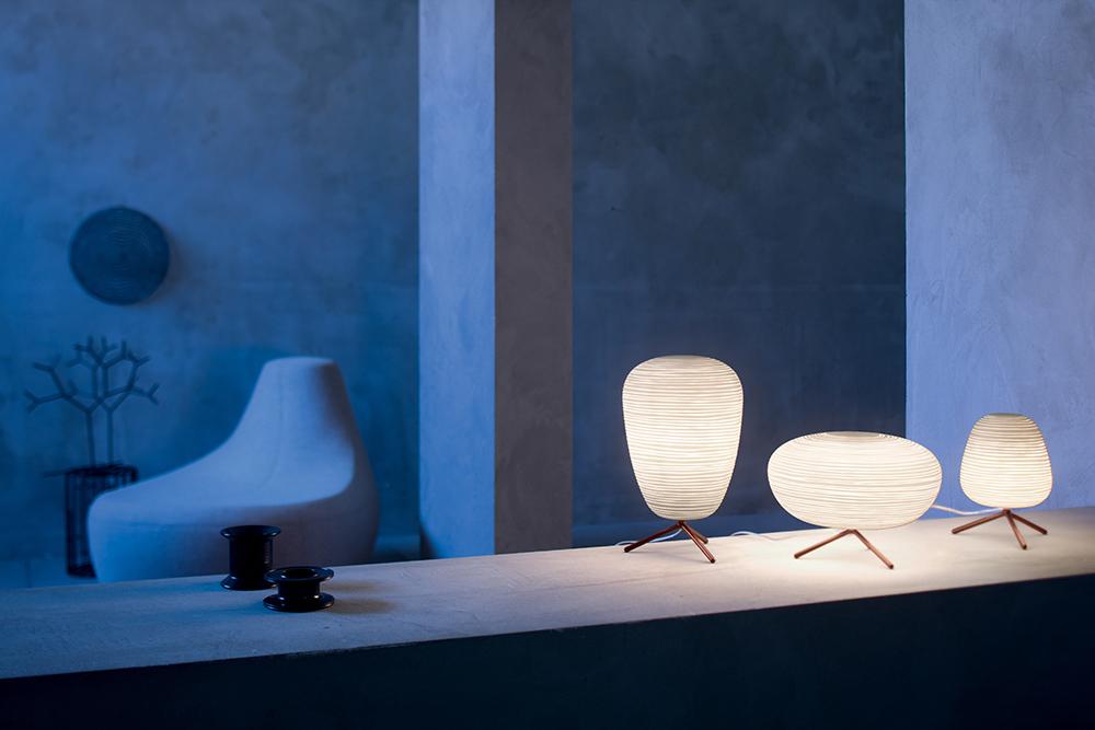 FOSCARINI lampe de table RITUALS 3 (Variateur Verre soufflé et métal verni)