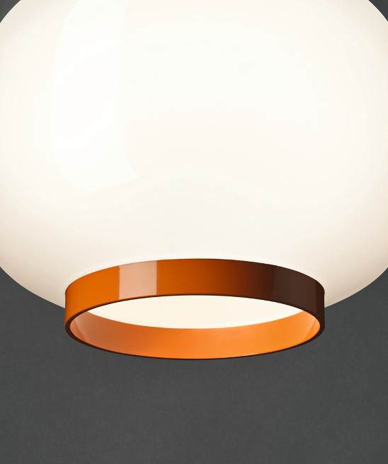 Foscarini Orange Suspension Chouchin Lampe 1blanc À Reverse KclF1J